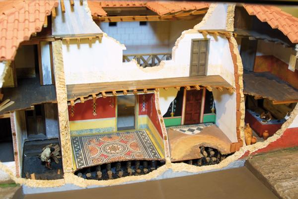 Maisons En Maquette Belle En Etage : Aventicum la maison romaine